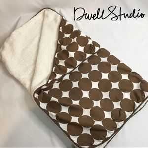 Dwell 100% Cotton Chocolate Dots Hooded Towel